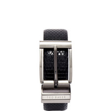 Tatti Reversible Textured Leather Belt