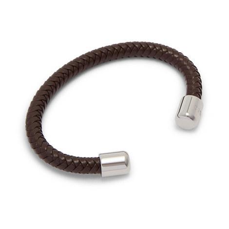 Karr Herringbone Leather Bangle, ${color}