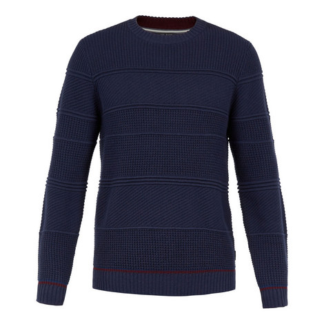 Latar Long Sleeve Textured Stripe Sweater, ${color}