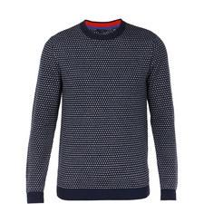 Malttea Textured Crew Neck Sweater