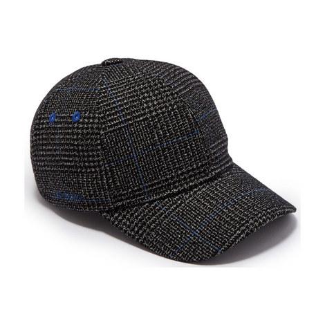 Peptee Graphic Check Baseball Cap, ${color}