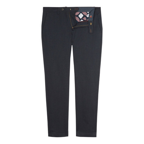 Willham Slim Fit Textured Trousers, ${color}