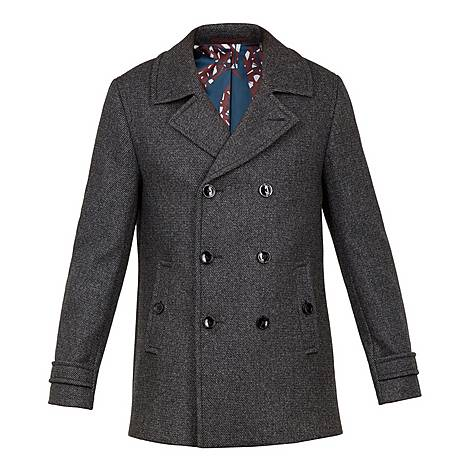 Grilld Double Breasted Peacoat, ${color}