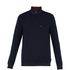 Leevit Half Zip Funnel Neck Jumper