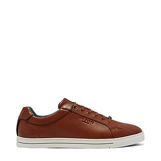 Thawne Burnished Leather Trainers