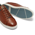 Thawne Burnished Leather Trainers, ${color}