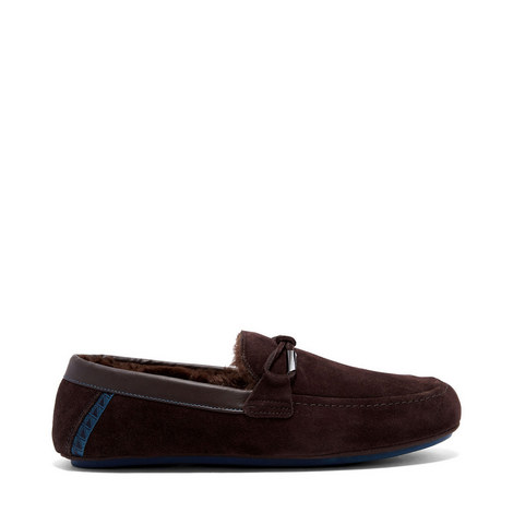 Valcent Suede Mocassin Slippers, ${color}