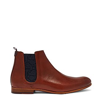 Whron Leather Chelsea Boots