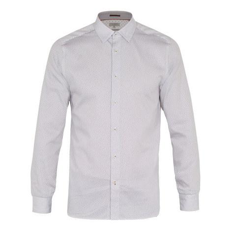 Subik Long Geometric Print Shirt, ${color}