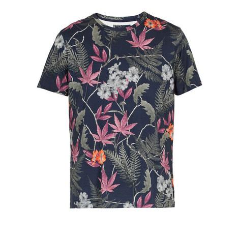 Buck Floral Print T-Shirt, ${color}