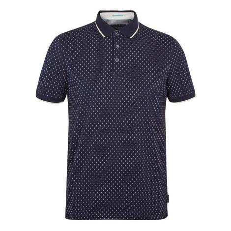 Toff Geometric Print Polo Shirt, ${color}