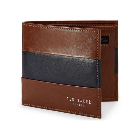 Stozip Contrast stripe Bifold Wallet, ${color}