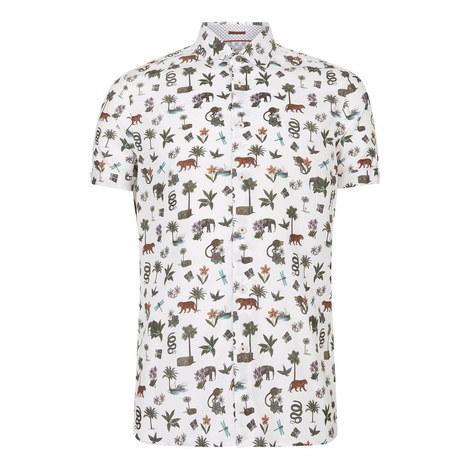 Dolfin Jungle Print Shirt, ${color}