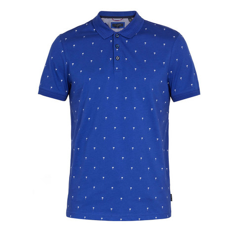 Tuka Palm Tree Cotton Polo Shirt, ${color}
