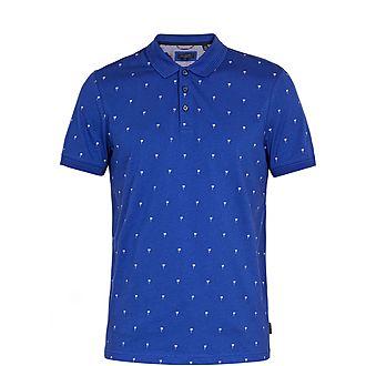 Tuka Palm Tree Cotton Polo Shirt