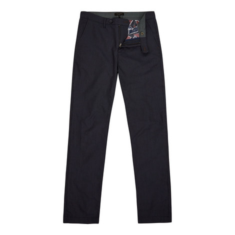 Stelim Slim Fit Textured Trousers, ${color}