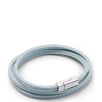 Crink Leather Wrap Bracelet