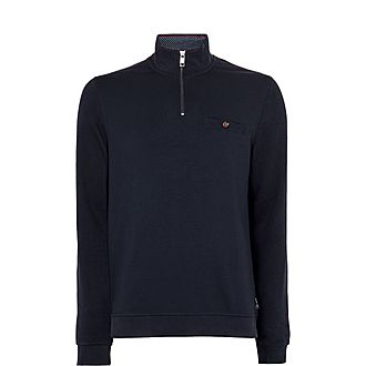 Muggie Half-Zip Funnel Neck Sweater