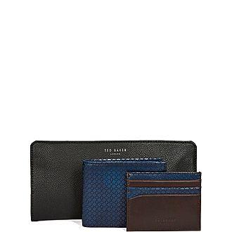 Skates Leather Wallet & Cardholder Gift Set