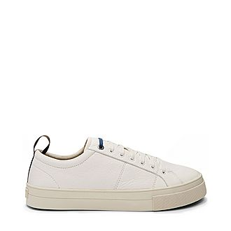 Ephran Leather Plimsoll Trainers