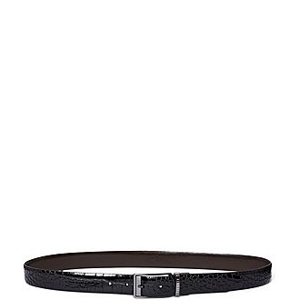 Sandrer Reversible Exotic Leather Belt