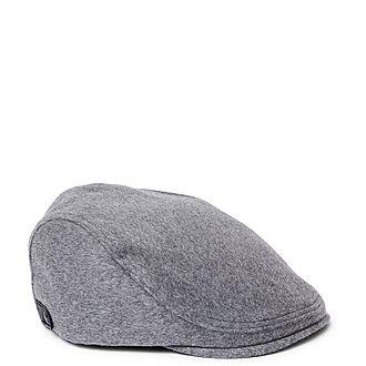 Ducasse Textured Wool Flat Cap