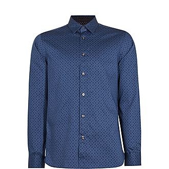 Whonos Cotton Geo Print Shirt
