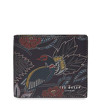 Habbit Leather Jacquard Wallet