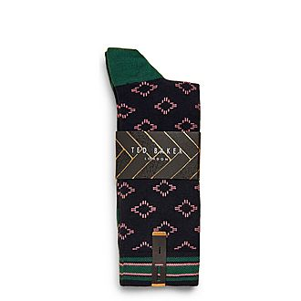 Brans Geo Cotton Socks