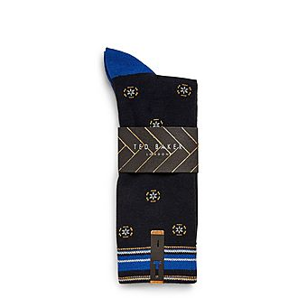 Crans Geo Print Cotton Socks