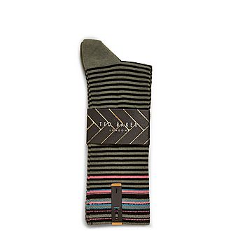 Prestin Cotton Striped Sock