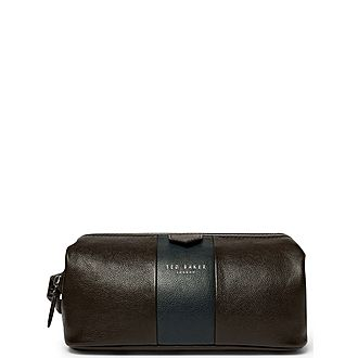 Watchar Stripe Leather Washbag