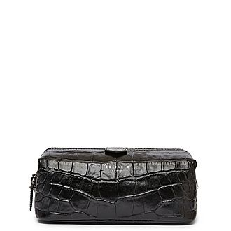 Crawl Leather Exotic Washbag