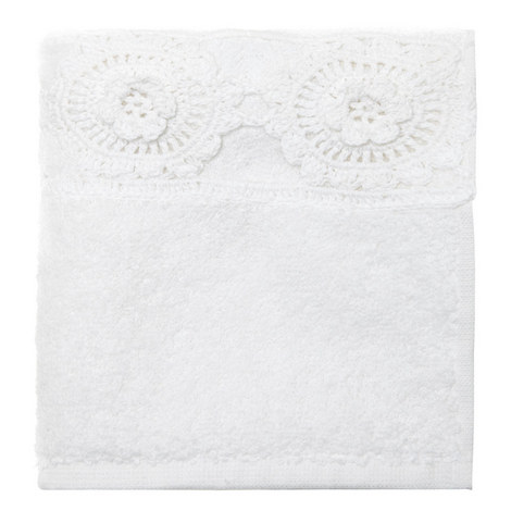 Crochet Daisy Guest Towel, ${color}