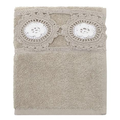 Crochet Daisy Guest Towel, ${color}