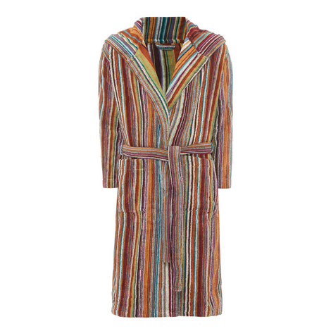 Jazz Striped Bathrobe, ${color}