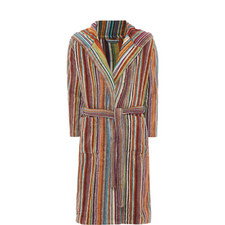 Jazz Striped Bathrobe