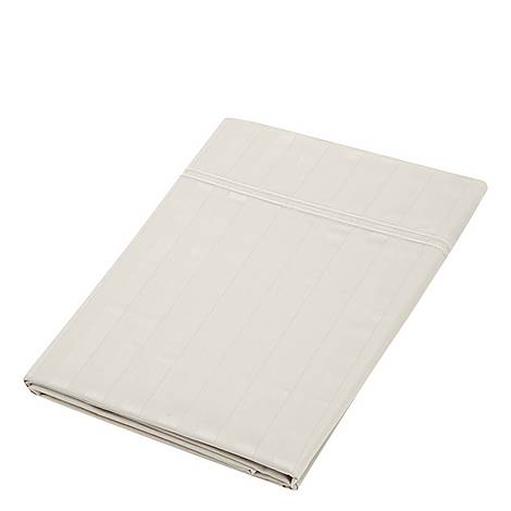 Satin Stripe Flat Sheet, ${color}