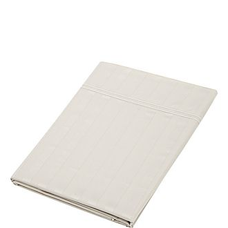 Satin Stripe Flat Sheet
