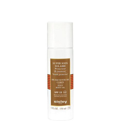 Super Soin Solaire Silky Body Oil Sun Care SPF 15, ${color}
