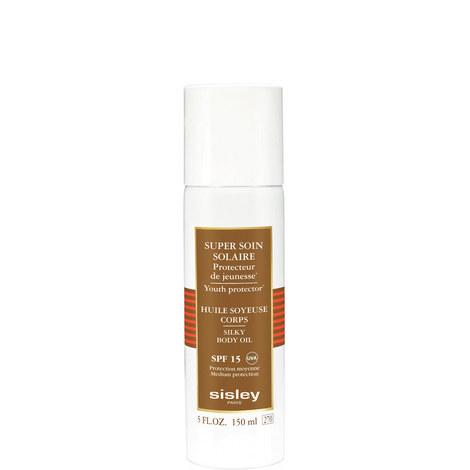 Super Soin Solaire Silky Body Oil Sun Care SPF 15, ${color}
