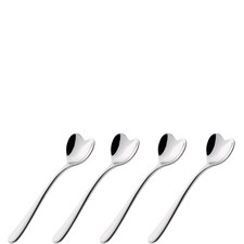 4 Heart Coffee Spoons