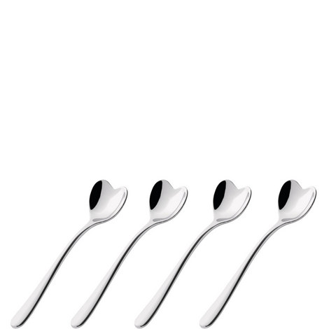4 Heart Coffee Spoons, ${color}