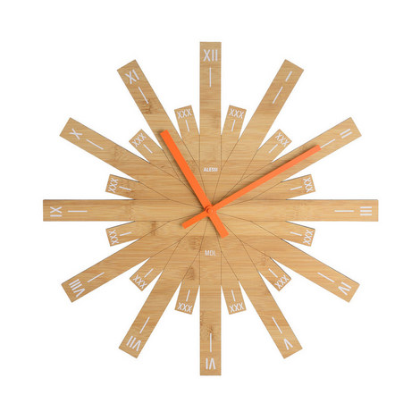 Raggiante Wood Wall Clock, ${color}