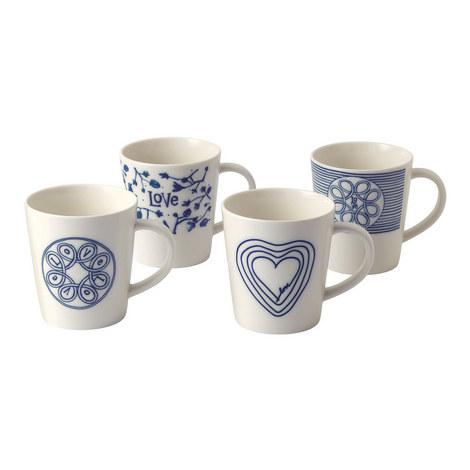Set of 4 ED Love Mugs, ${color}