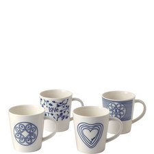 Set of 4 ED Love Mugs