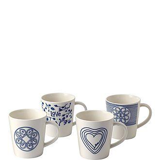 Set of 4 ED Love Mugs