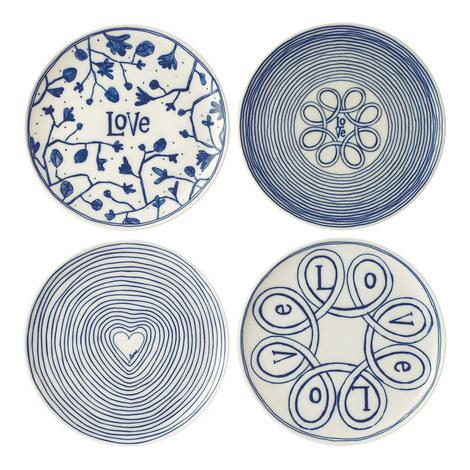 Set of 4 ED Love Plates 21cm, ${color}