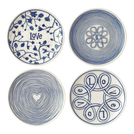 Set of 4 ED Love Plates 16cm, ${color}