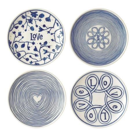Set of 4 ED Love Plates 16cm, ${color}